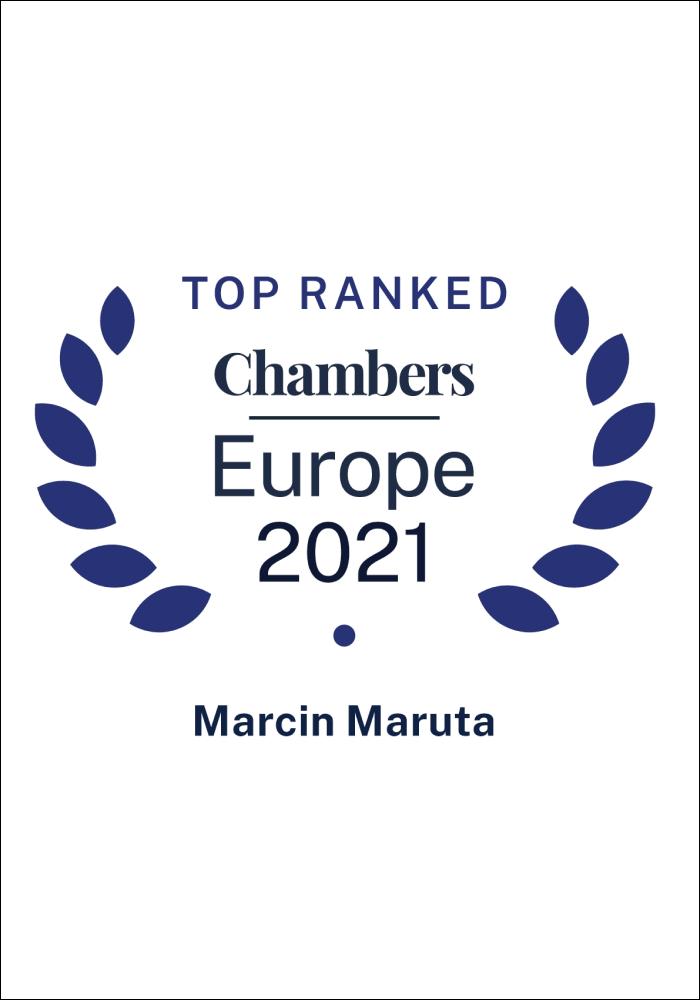 Chambers Europe 2021 - Marcin Maruta