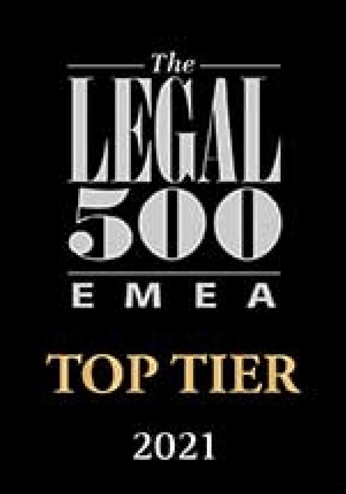 Legal 500 - Top Tier 2021